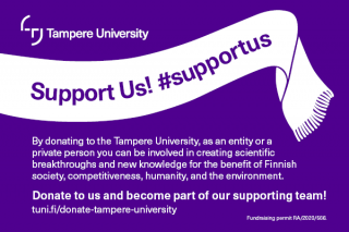 Support us! donation campaign emblem as a link to the campaign website